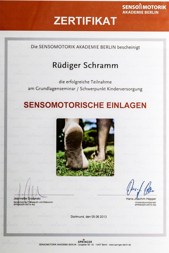 SCHRAMM Orthopädietechnik Bochum | Sensomotorische Einlagen