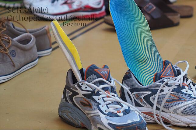 Sportschuheinlagen für Tennis, Laufen oder Handball
